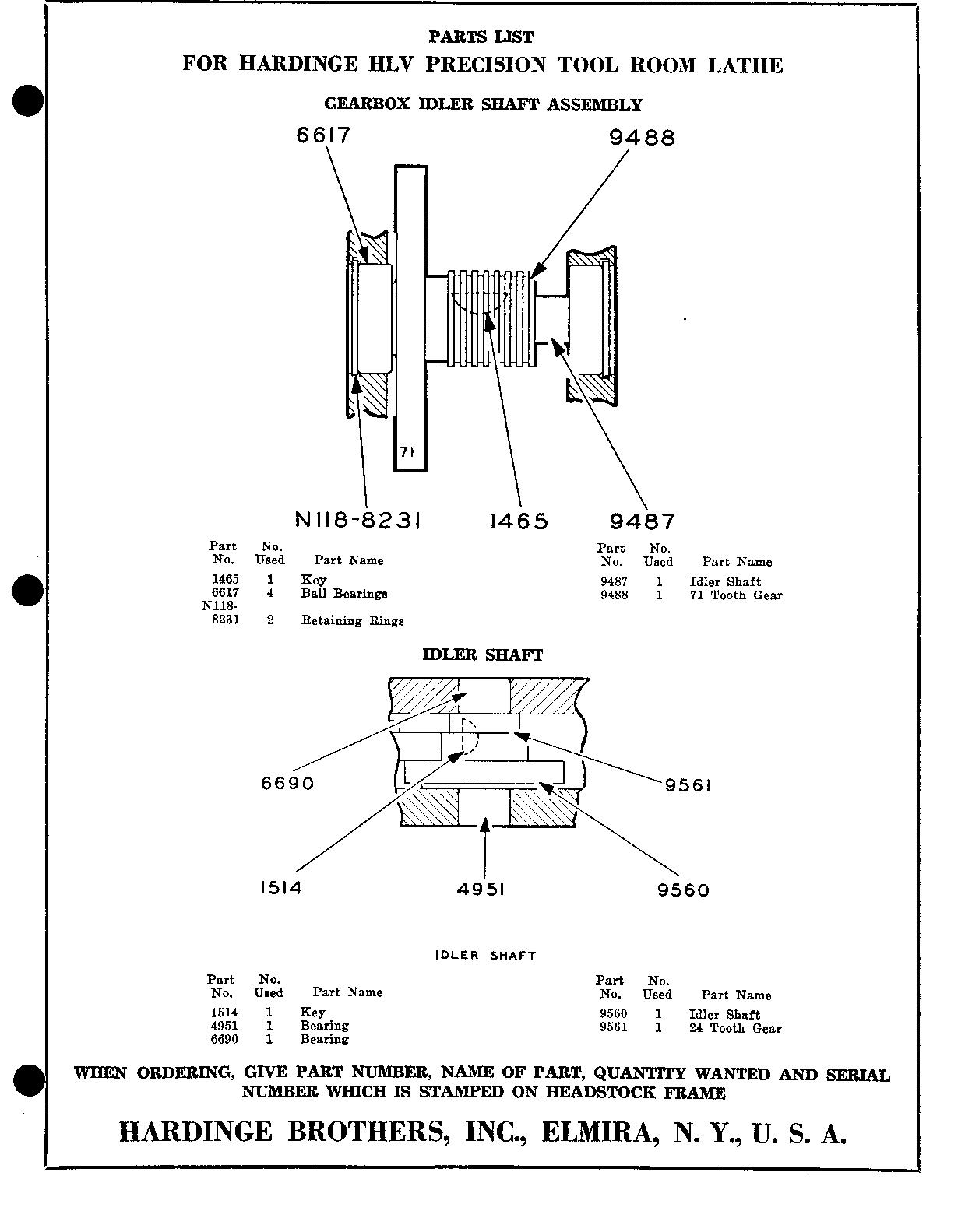 Hardinge Tool And Die Diagram Not Lossing Wiring 741 Op Circuit Diagrams Hlv Parts List Rh Csparks Com Injection Molding Machine Amp